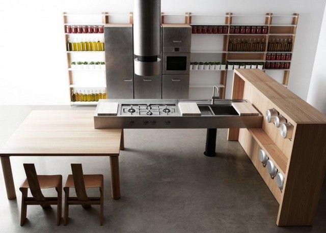 Meubles de cuisine modulables Convivio par Enzo Berti