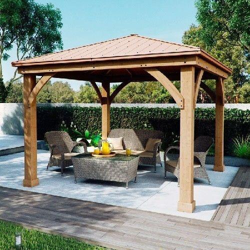 Outdoor Gazebo Pergola Garden Patio Shade Cedar Wood