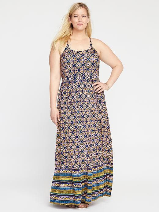 ea87b771c906 High-Neck Plus-Size Maxi Dress | Old Navy | { On My List } | Plus ...