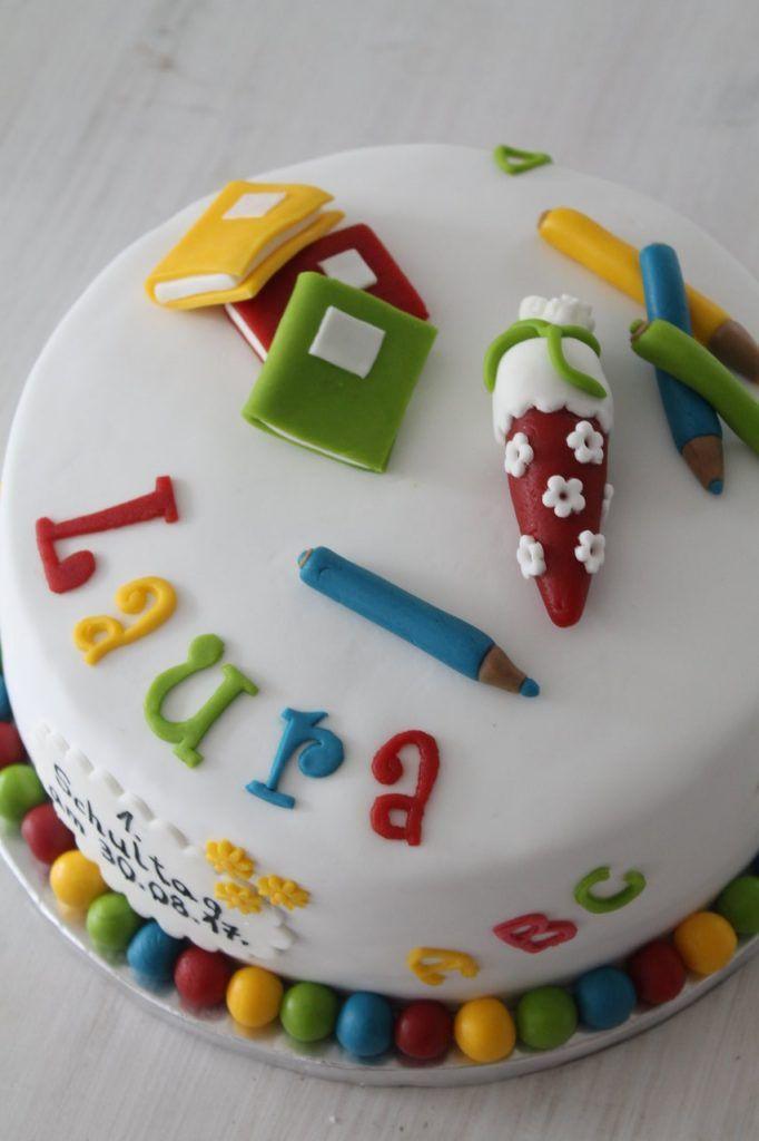 Einschulungstorte Fur Laura Cuplovecake Einschulungstorte Kuchen Einschulung Torte Einschulung