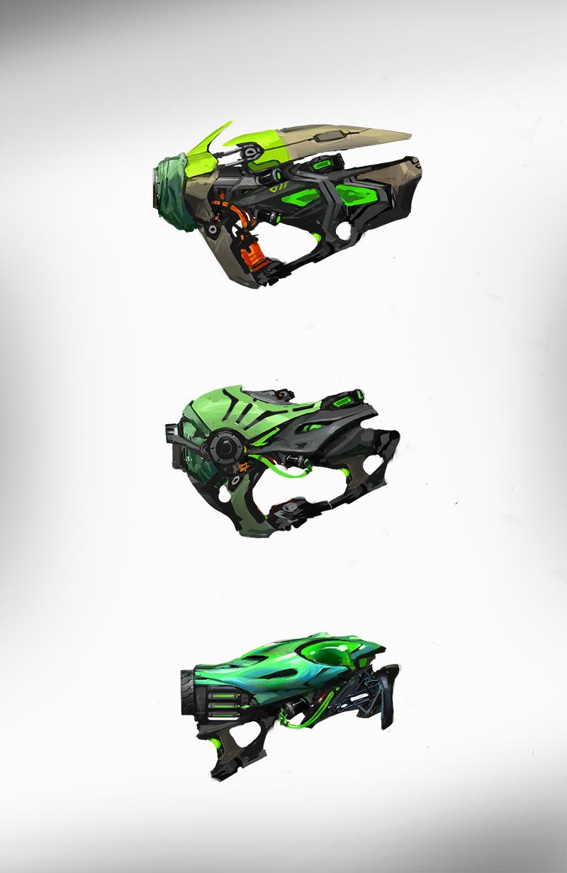 Concept Art Bio Rifle Design