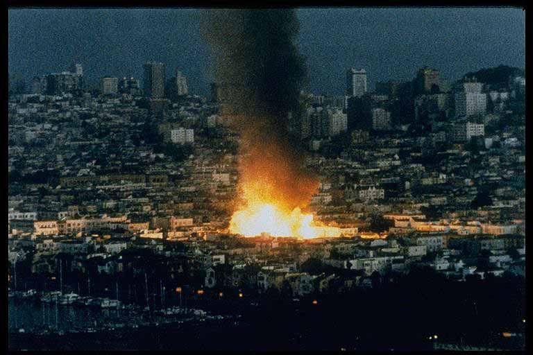 Fire In The Marina 1989 Oakland San Francisco Earthquake