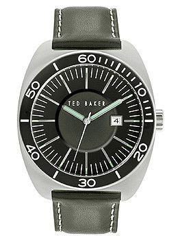 Ted Baker Sport Three-Hand Black Leather Strap Men's watch #10024731
