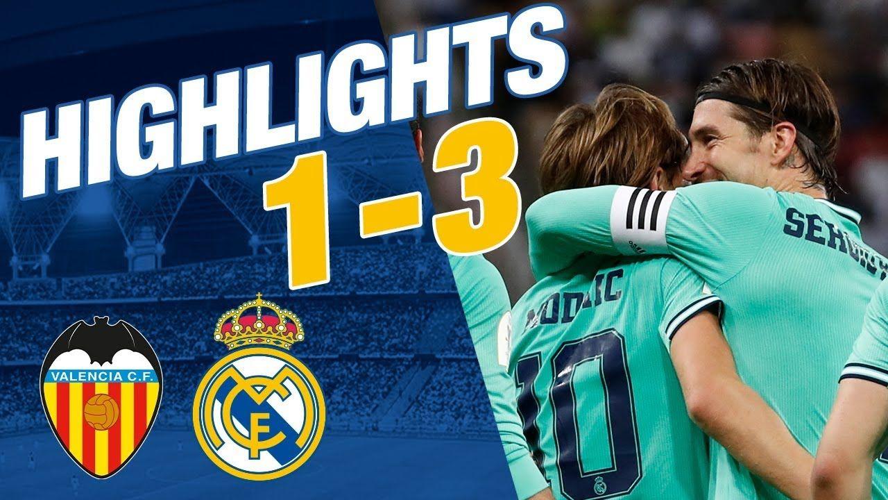 GOLES Y RESUMEN Valencia 13 Real Madrid Supercopa de