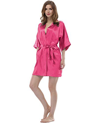 Women's Sleepwear - Sunnyhu Womens Pure Color Kimono Robe Short ** Find out more about the great product at the image link. (This is an Amazon affiliate link)
