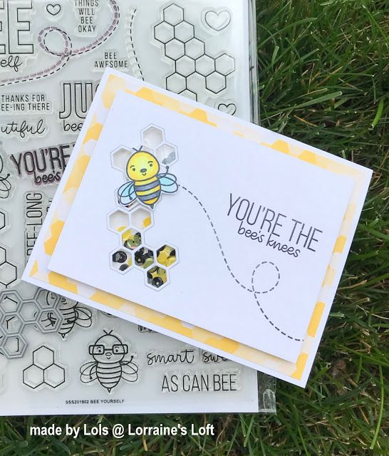 Lorraine's Loft: Simon Says Stamp July 'Bee Yourself' Card Kit! #cardkit