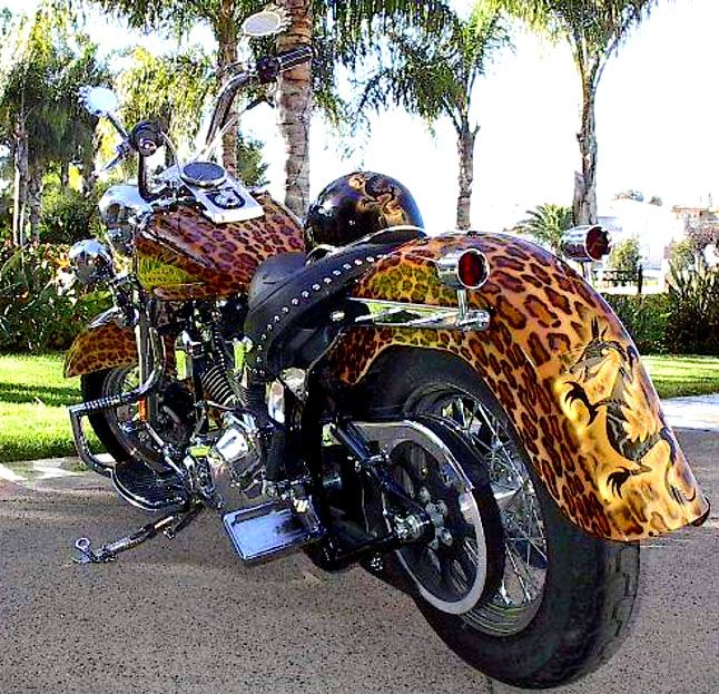 Kiana's Custom Harley - As seen on Steel Dreams TV and Hot Bike Magazine. Heritage Softail. Super Strong chick bike.