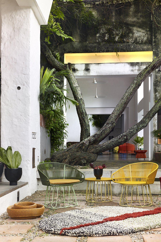 salon de jardin design colore ames meuble jardin petit meuble deco jardin mobilier