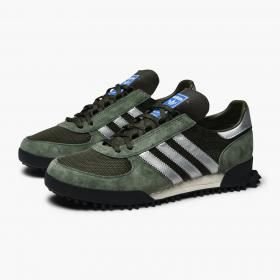 Marathon Tr Mesh, Suede And Leather Sneakers - Blackadidas Originals