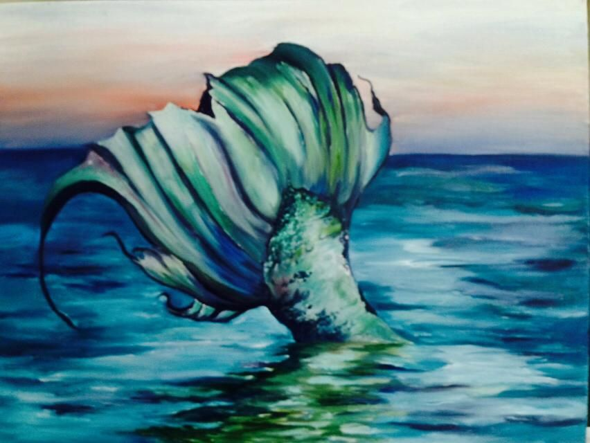 cindy mathis sophias mermaid painting dirty