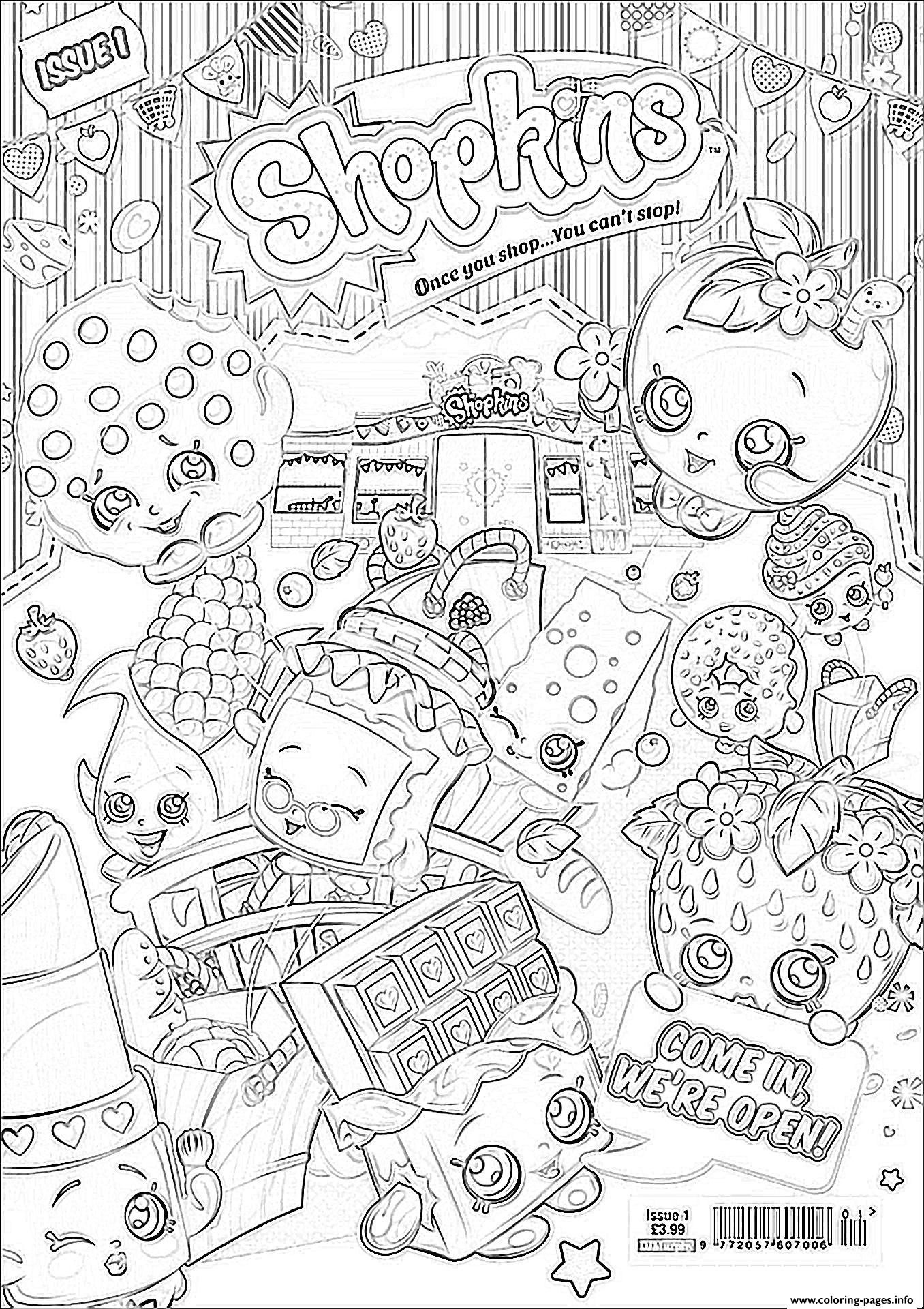 Shopkins coloring pages nail polish - Print Shopkins We Are Open Coloring Pages