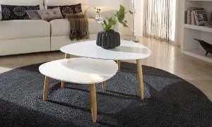 Beistelltisch Rund Oder Eckig In Verschiedenen Farben Inkl Versand Ab 79 Bis Zu 53 Sparen Wohnzimmertische Couchtisch Design Beistelltisch Rund