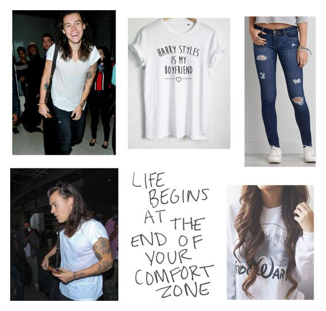"""""""Airport with my Boyfriend Harry"""" by rossandharry ❤ liked on Polyvore featuring American Eagle Outfitters, women's clothing, women's fashion, women, female, woman, misses and juniors"""