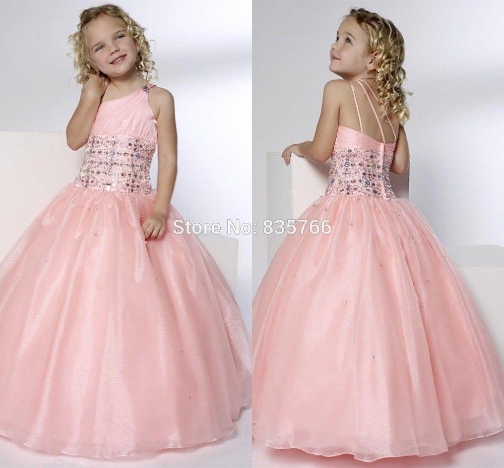 Barato Rosa vestido com Beading para festa de casamento vestido de ...