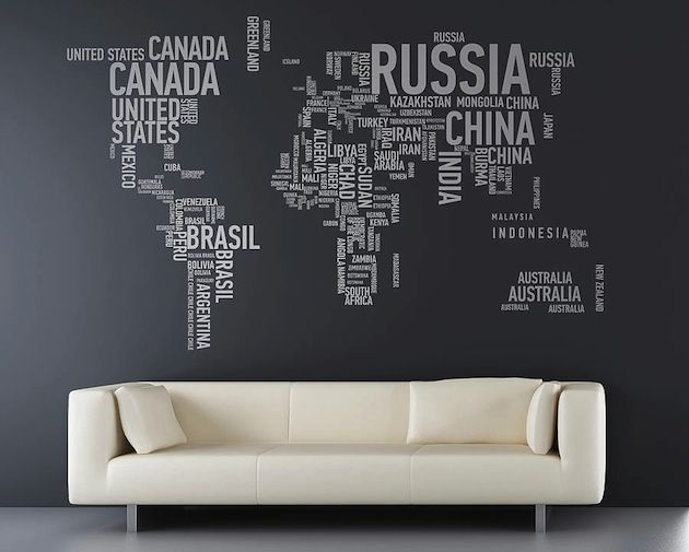 17 cool ideas for world map wall art walls art decor and interiors 17 cool ideas for world map wall art gumiabroncs Image collections