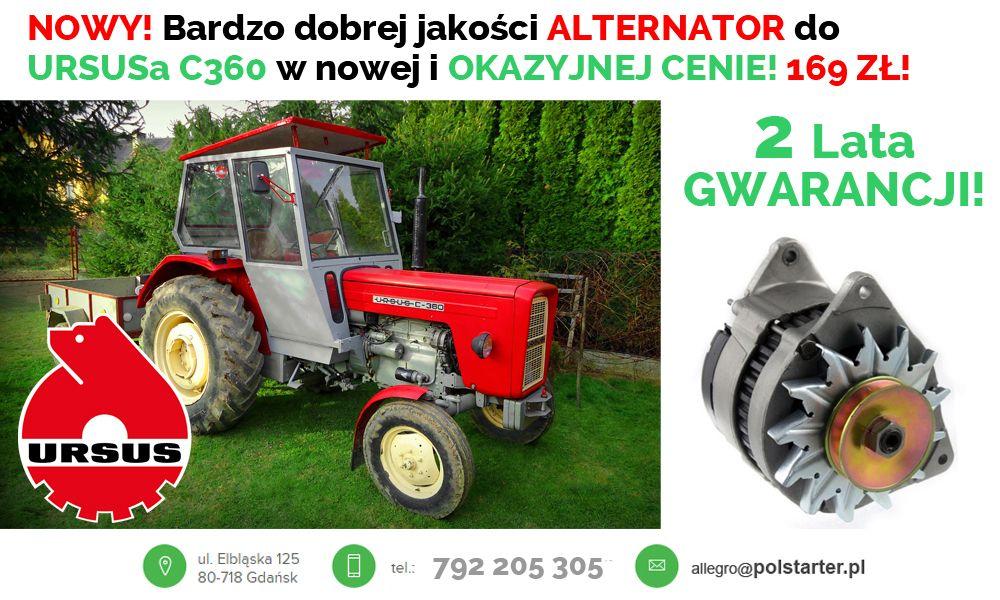 Nowy Alternator Ursus C360 C 360 Ciagnik Traktor 6754830782 Oficjalne Archiwum Allegro Tractors Vehicles