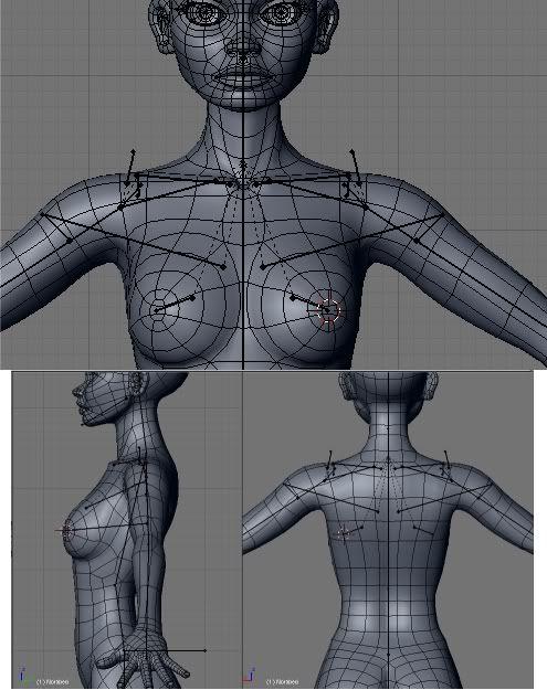 shoulder deformation test + video + blend file   topology modeling ...