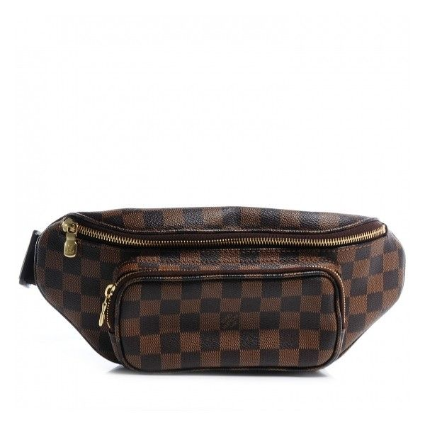 f8e98954e2d4 LOUIS VUITTON Damier Ebene Bum Melville Fanny Pack ❤ liked on Polyvore  featuring bags
