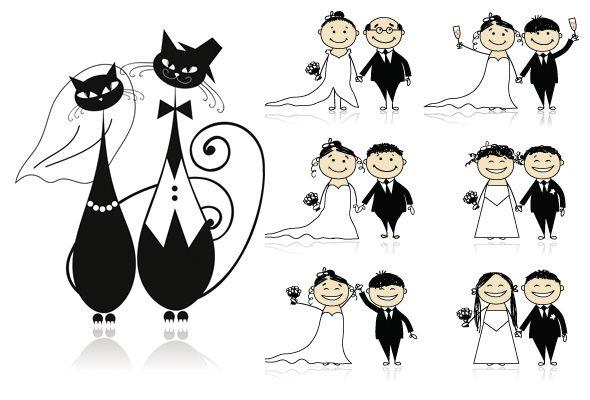 15 Vetores sobre Casamento - Galeria de Vetores