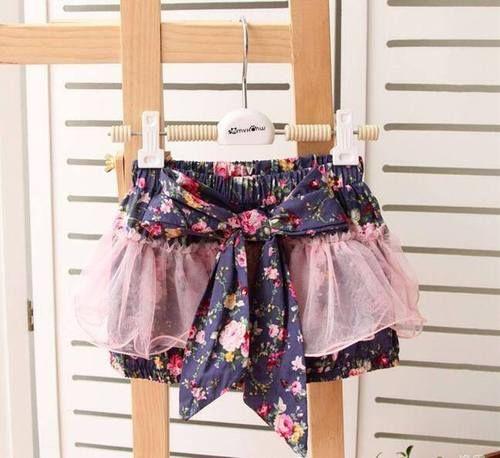 Ruffle Shorts Lilac Navy Munchkin Patch $15.95