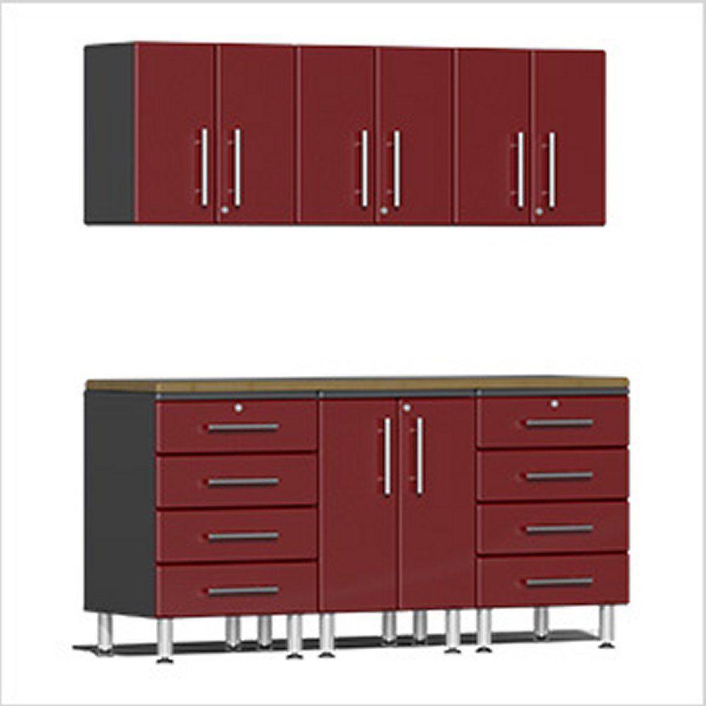 Ulti-MATE Garage 2.0 Series 7-Piece  Workstation Kit in Red Metallic UG23072R