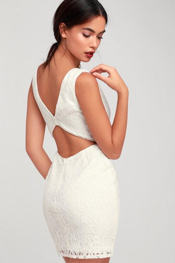 f19ba598a5985 Lulus   Nevaeh White Lace Cutout Mini Dress   Size X-Large   100 ...