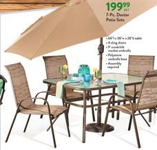 7 pc dexter patio sets from the