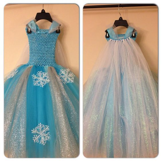 Elsa dress with cape inspired from frozen movie and FREE hairpiece ...