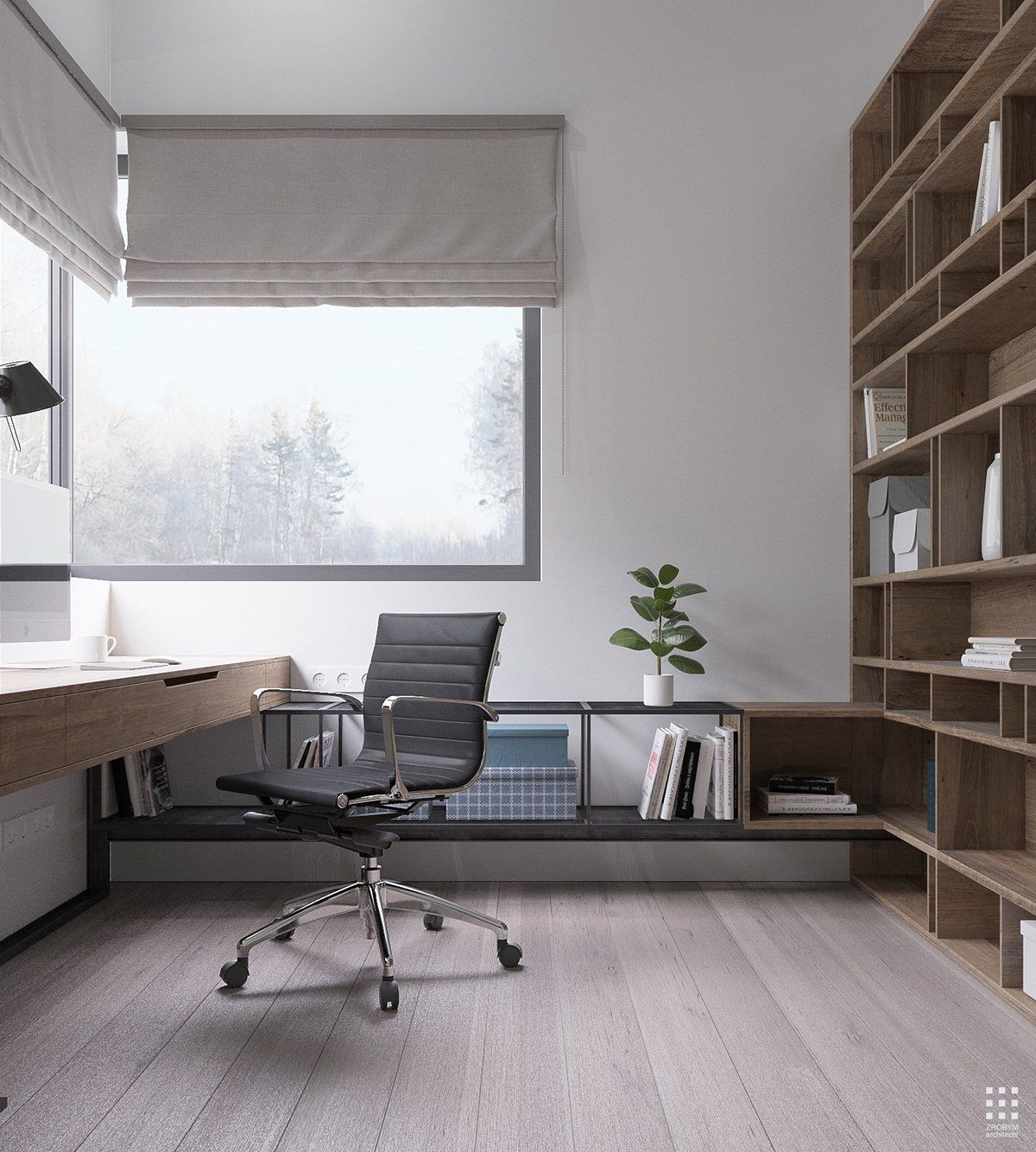 35 Modern Home Office Design Ideas: An Organic Modern Home With Subtle Industrial Undertones