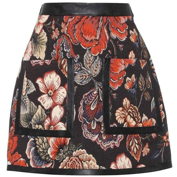 Stella McCartney Jacquard Skirt ($630) ❤ liked on Polyvore featuring skirts, multicoloured, stella mccartney, jacquard skirts, multicolor skirt, stella mccartney skirt and multi colored skirt