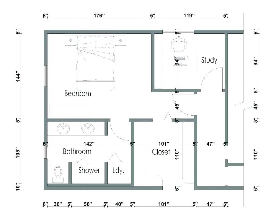 size master bedroom layout with