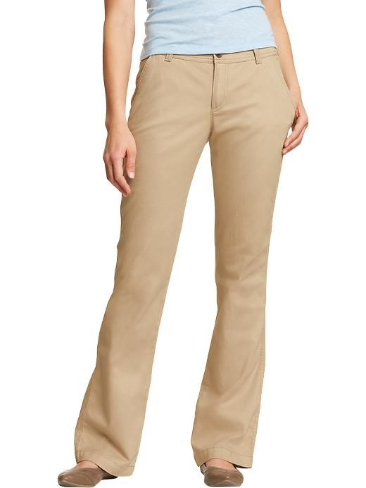 Old Navy | Women's The Sweetheart Everyday Boot-Cut Khakis | I ...