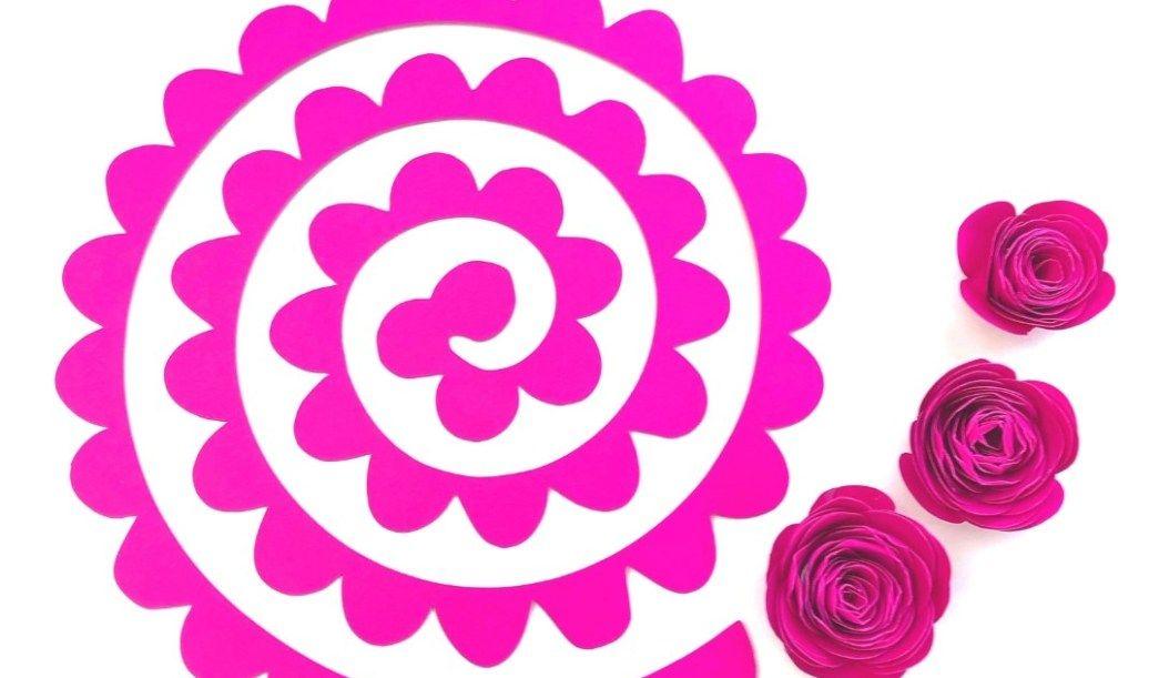 Paper Rose Template Paper roses, Flower svg, Crafts