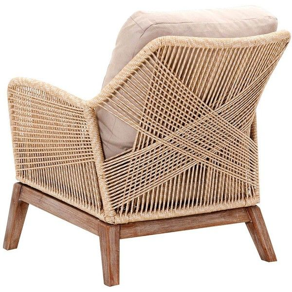 New Wicker Loom Mahogany And Sand Rope Club Chair ($859) ❤ Liked On  Polyvore Featuring Home, Furniture, Chairs, Accent Chairs, Contemporary  Furnituu2026