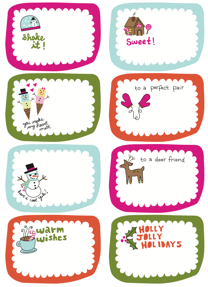 picture about Cute Gift Tags Printable known as Frugal Daily life Challenge: Free of charge Printable Present Tags!-- take pleasure in the