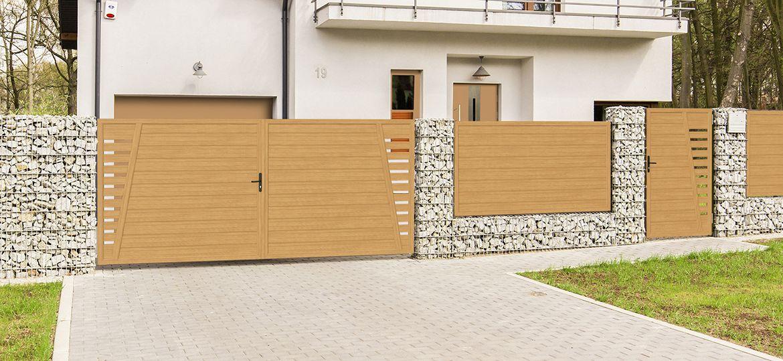 Privacy screen courtyard gate-door combination plastic – mountain pine | …