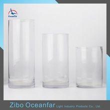 Precio de fbrica Decoracin Altos Jarrones De Vidrio Transparente