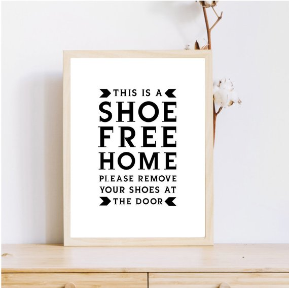 graphic regarding Please Remove Your Shoes Sign Printable Free known as Shoe Cost-free Property Indication, Printable Shoe Off Indication, Eliminate Sneakers