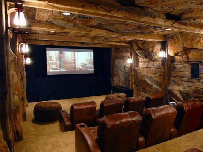 Unfinished Basement Ideas For Home Theatre