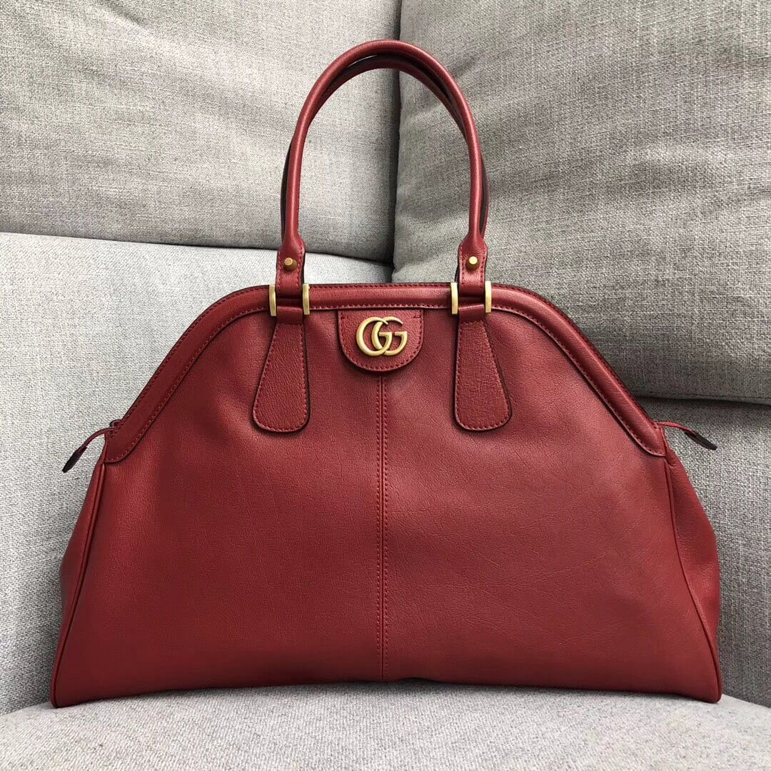 26824504786e Gucci RE(BELLE) Large Top Handle Bag 516459 Red 2018