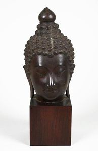 ASIAN ALABASTER CARVINGS | ... Carving Mathura Buddha Head Stone Carving Bronze Thai Buddha Head