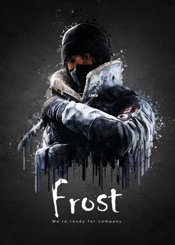 Rainbow Six Siege Characters Frost #Displate artwork by artist ...