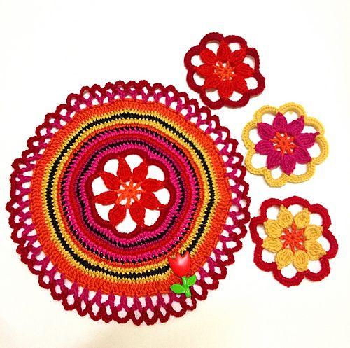 Ravelry Mesmerising Mandala And Coasters Pattern By Lu Douglas