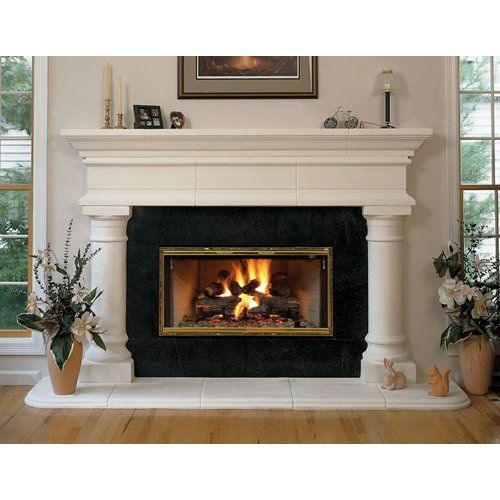 Forshaw Aegean Stone Mantel Colonnade White The Forshaw Aegean