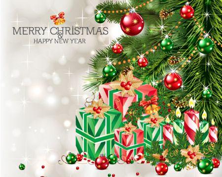 Merry Christmas - christmas bells, decoration, balls, red balls