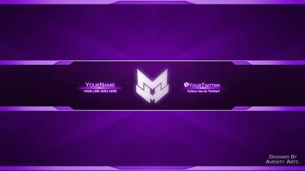 Youtube Template Banner Clean Youtube Banner Avatar Template Any Colour F Sampleresume Freeresume