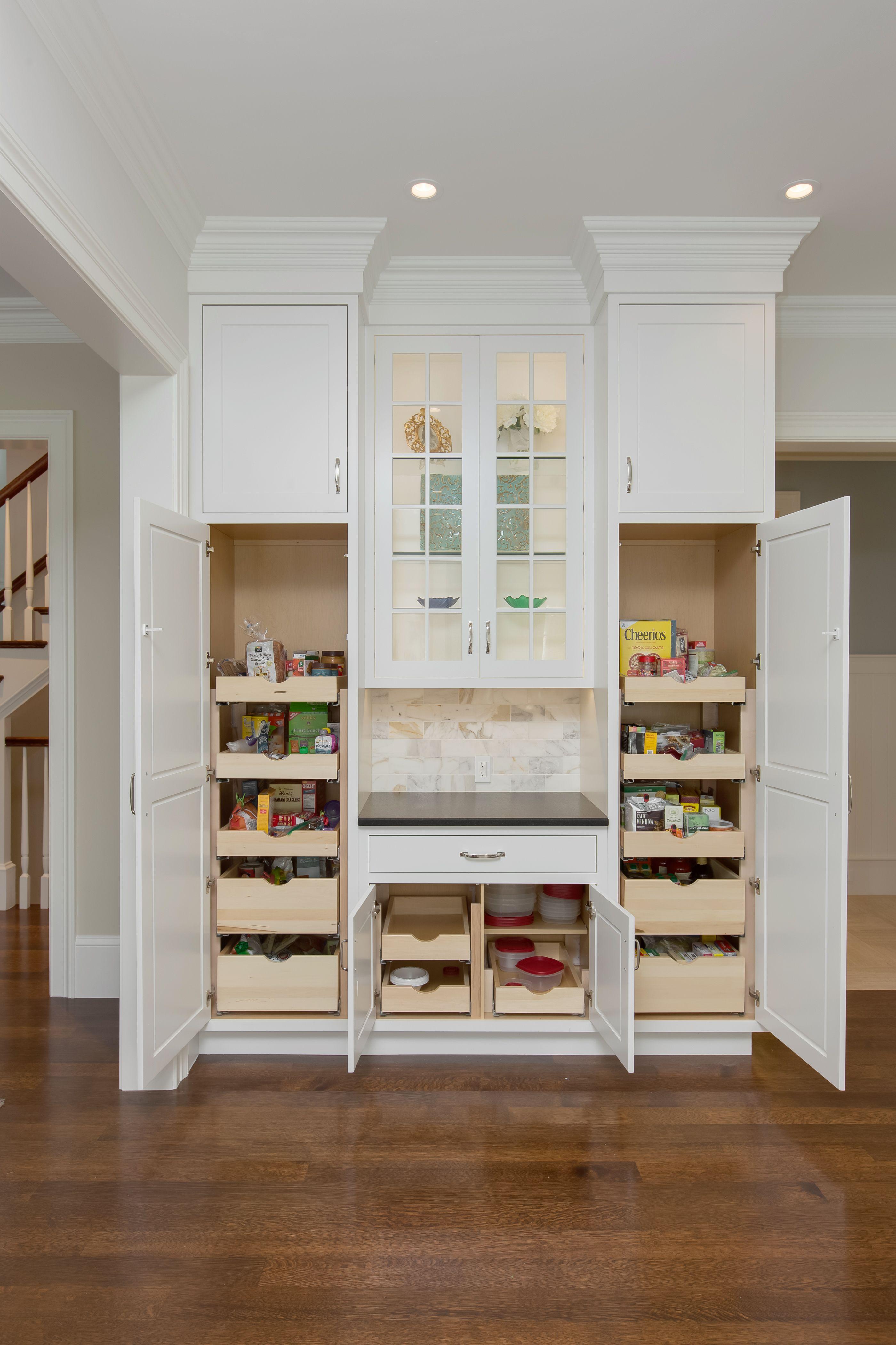 Download Wallpaper White Kitchen Pantry Tall