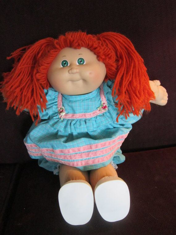 Vintage Cabbage Patch Kid Red Hair Pig Tails Cabbage Patch Kids Dolls Cabbage Patch Kids Cabbage Patch Babies