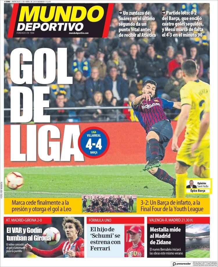 20190403 Periódico El Mundo Deportivo (España