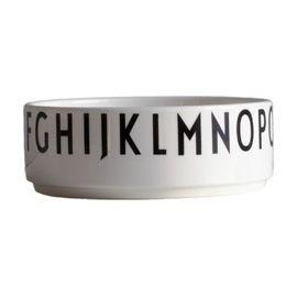 """""""DESIGN LETTERS"""" Design Letters Arne Jacobsen Typography Porcelain Bowl at Heal's"""